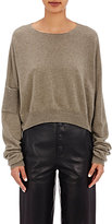 Helmut Lang Women's Crop Sweater-GREEN