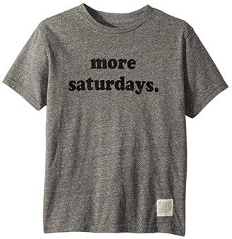 The Original Retro Brand Kids More Saturdays Tri-blend Short Sleeve Tee (Big Kids) (Streaky Grey) Boy's T Shirt