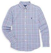 Ralph Lauren Boy's Plaid Cotton Poplin Shirt