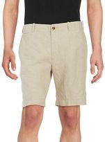 Black Brown 1826 Linen Shorts