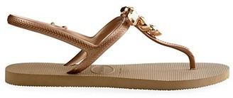 Havaianas Freedom Capri III Crystal-Embellished Sandals