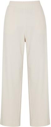 MAX MARA LEISURE Mabel cream wide-leg jersey trousers