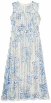 Taylor Dresses Women's Plus Size Sleeveless Paisley Chiffon Midi Dress