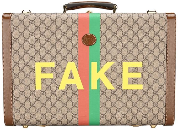 Gucci Logo Printed Medium Suitcase