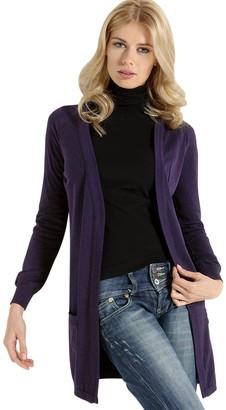 Sensi SENSI' Cardigan Womens Long Sleeve Knitwear Made in Italy Purple