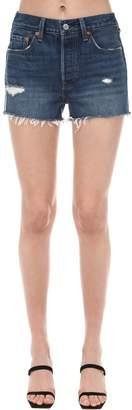 Levi's 501 High Rise Raw Hem Denim Shorts
