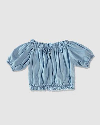 Gelati Jeans Maisie Chambray Peasant Top