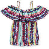 Jessica Simpson Big Girls 7-16 Kit Striped Flounce Top