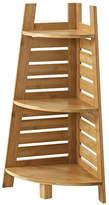 Asstd National Brand Bracken Bamboo Corner Bathroom Shelf