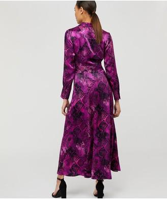 Monsoon Synthia Snake Print Shirt Dress - Purple