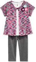First Impressions Baby Girls' 3-Pc. Shrug, T-Shirt & Leggings Set, Only at Macy's