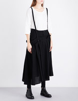 Y's Ys Suspender-strap high-rise wool skirt