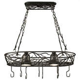 Wildon Home Peony Lighted Hanging Pot Rack