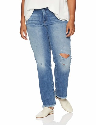 Lucky Brand Women's Plus Size MID Rise Lolita Straight Jean in Assateague Island 24W