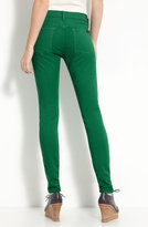 7 For All Mankind® 'The Skinny' Overdyed Jeans (Kelly Green Wash)