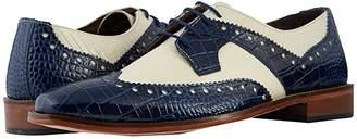 Stacy Adams Gusto Wingtip Oxford (Dark Blue/Ivory) Men's Shoes