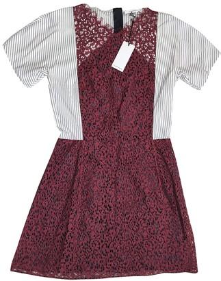 Carven Burgundy Cotton Dress for Women