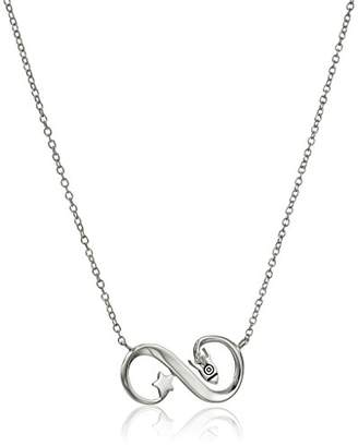 "Disney Sterling ""To Infinity and Beyond"" Rocket Ship Pendant Necklace"