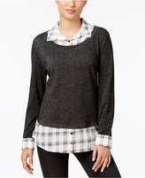 Style&Co. Style & Co Style & Co Petite Layered-Look Top, Created for Macy's