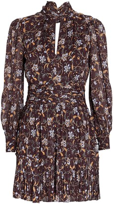 Nicholas Gemma Printed Chiffon Mini Dress