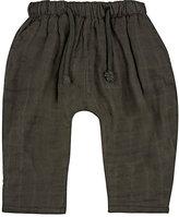 Rylee + Cru Washed Cotton Gauze Pants-BLACK
