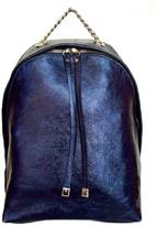 Leather Country Metallic Leather Backpack