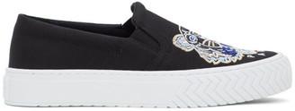 Kenzo Black Tiger Head K-Skate Slip-On Sneakers