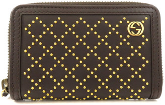 Gucci Black Leather Stud Wallet