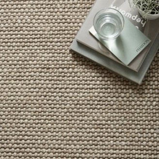 The White Company Hampton Looped Wool Rug, Biscuit, One Size