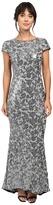 Calvin Klein Short Sleeve Sequin Gown CD6B1P9W