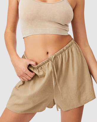 Cotton On Women's Neutrals High-Waisted - Cali Pull On Shorts - Size 6 at The Iconic