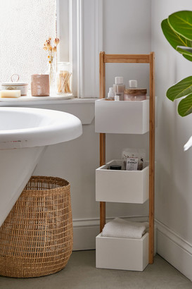 Urban Outfitters 3-Tier Bamboo Bath Storage Caddy