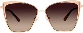Cat Eye Diff Eyewear Becky Brushed Gold Sunglasses