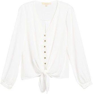 Everleigh Front Tie Long Sleeve Shirt