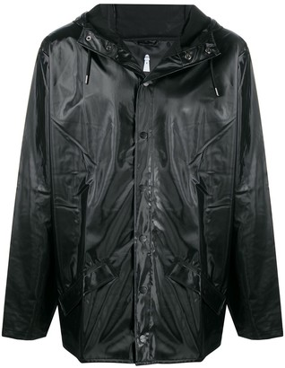 Rains Hooded Short-Length Raincoat