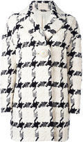 Alexander McQueen checked single-button trapeze coat - women - Silk/Cotton/Linen/Flax/Viscose - 38