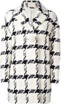Alexander McQueen checked single-button trapeze coat