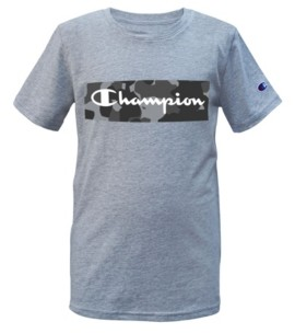 Champion Big Boys Camo Backdrop Script T-shirt