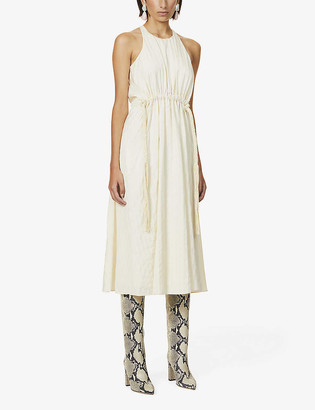 Ssone Forest scoop-neck woven maxi dress