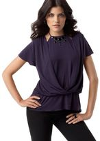 AGB Top, Flutter Sleeve Layered Wrap