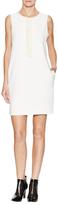 L'Agence Sleeveless Ruffle Shift Dress