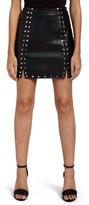 Missguided Women's Studded Faux Leather Miniskirt