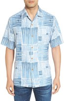 Tommy Bahama Men's 'Terrace Tiles' Original Fit Print Silk Camp Shirt