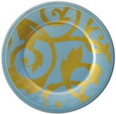 Rachael Ray Gold Scroll Salad Plate - Agave Blue - 8""