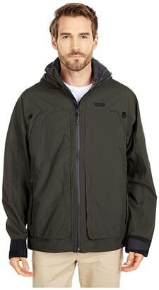 Filson Skagit Rain Jacket (Peat) Men's Clothing