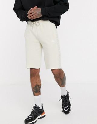 Kappa 222 banda marvz shorts with tonal side taping in beige