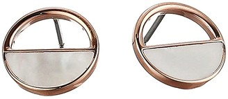 Skagen Agnethe Rose-Tone and Mother-of-Pearl Stud Earrings (Rose Gold) Earring
