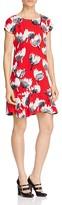 Moschino Floral Print Drop Waist Dress