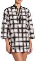 Proenza Schouler Plaid Cotton & Silk Shirtdress