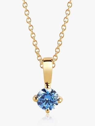 Sif Jakobs Jewellery Cubic Zirconia Round Pendant Necklace